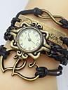 Femme Quartz Bracelet de Montre Grosses soldes Polyuréthane Bande Heart Shape Bohème Mode Noir Blanc Bleu Rouge Marron Vert Violet Jaune