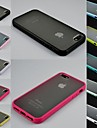Transparent Design Durable Hard Case for iPhone 4/4S (Assorted Colors)