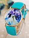 relógio de estilo abstrato pinturas pu banda quartzo das mulheres (cores sortidas)
