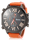 OULM® Men's Watch Military Style Big Roman Numerals Dial Leather Band Cool Watch Unique Watch
