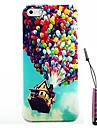 Balloon House Pattern Hard Case & Touch Pen for iPhone 5/5S