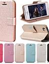 padrão de seda suave df com saco de cartão de pu caso de corpo inteiro para iphone 5-C (cores sortidas)