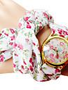 Femme Montre Tendance Bracelet de Montre Quartz Bande Fleur Boheme Blanc