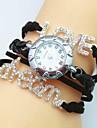 женская новый стиль кристалл любовь мечта письмо кожа ткань группа кварца часы (ассорти цветов)