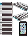 Piano Pattern PC Hard Case for iPhone 5C