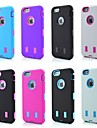 3in1 Robots Pattern Silicone Cover for iPhone 6S/6 Plus(Assorted Colors)