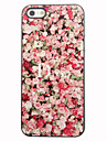 Red Rose Pattern Aluminum vanskelig sak for iPhone 4/4S