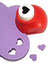 sacador herramienta de corte bricolaje patron de corazon pequeno de metal (color al azar)