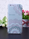 For iPhone 6 Case / iPhone 6 Plus Case Embossed Case Back Cover Case Flower Hard PC iPhone 6s Plus/6 Plus / iPhone 6s/6