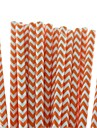 Eco-Friendly Lovely Chevron Paper Straws 18 Colors Paper Drinking Straws for Halloween Party (25 PCS)