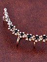 Ear Cuffs Crystal Simulated Diamond Alloy Fashion Flower Jewelry Party Daily Casual