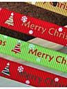 3/8 Καλά Χριστούγεννα και όμορφο σχέδιο χιόνι πλευρό κορδέλα εκτύπωσης κορδέλα-5 αυλή κάθε τσάντα
