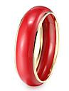 Bracelet Bracelets Rigides Résine Autres Original Mode Soirée Quotidien Décontracté Bijoux Cadeau Noir Blanc Rouge Orange Vert Incarnadin,