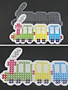 1PCS Template Clear Pegboard Colorful Train Pattern for 5mm Hama Beads Fuse Beads DIY Jigsaw