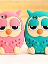 Owl Cartoon Silicone Soft Case for iPhone 5/5S  (Assorted Colors)