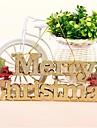 כרטיס אותיות באנגלית חג שמח עם עץ קישוט דלת תליית חנות חבל לתלות תלוי