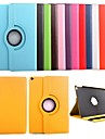 Case For iPad Air 2 with Stand 360° Rotation Full Body Cases Solid Color PU Leather for iPad Air 2