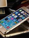 Para Capinha iPhone 6 / Capinha iPhone 6 Plus Antichoque Capinha Corpo Inteiro Capinha Cor Única Rígida MetaliPhone 6s Plus/6 Plus /