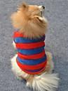 Кошка Собака Футболка Одежда для собак Теплый Косплей Свадьба В полоску Красный Костюм Для домашних животных