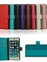 cheval fou etui en cuir PU avec support couvercle et la fente de carte pour iphone 6 plus (couleurs assorties)