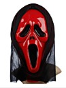 Screaming PVC Tricky Halloween Mask (Random Color)