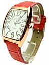 la mode féminine simple montre-bracelet petite bande de quartz composer pu (couleurs assorties)