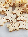 botones de madera del libro de recuerdos de la mariposa Scraft coser (10 piezas)