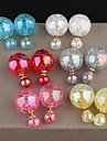 Earring,Stud Earrings Alloy / Resin,Jewelry White / Red / Blue / Gray / Pink / Khaki Wedding / Party / Daily / Casual