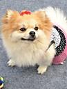Кошка Собака Платья Одежда для собак Косплей Свадьба В горошек Белый Черный Костюм Для домашних животных