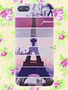 eiffel torre padrão cartonn relevo de volta para o iPhone 5 / 5s