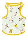 Cat Dog Shirt / T-Shirt Dog Clothes Cartoon Animal Yellow Cotton Costume For Pets