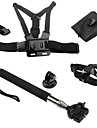 Telescopic Pole Chest Harness Front Mounting Case/Bags Hand Grips/Finger Grooves Monopod Tripod Mount / Holder For Action Camera Gopro 5