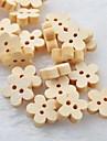 botones de madera diy ciruela scrapbook flor Scraft coser (10 piezas)