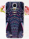 Elephants Pattern Embossment Back Case for Samsung Galaxy S4 I9500