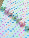 30 шт флуоресцентный эффект пентаграмма шаблон повезло звезды оригами материалы (Random Color)