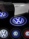 reallink ® para o logotipo Volkswagen levou boas-vindas chão passo luz porta marca projetando estacionamento lâmpada da luz da porta