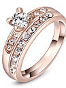 ROXI Austrian Crystals Rose Gold Plated Double Band Rings(2 Pcs)