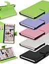 Capinha Para Huawei Capinha Huawei Carteira Porta-Cartão Com Suporte Flip Corpo Inteiro Côr Sólida Rígida Couro Ecológico para Other