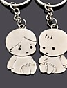 Personalized Engraving Child Metal Couple Keychain