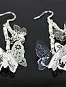 belles boucles d'oreilles papillon en argent - argent (1 paire)