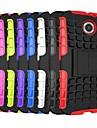deux-en-un pc de la conception du grain des pneus et étui en silicone avec support pour Motorola MOTO x + 1 (couleurs assorties)