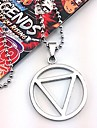Jewelry Inspired by Naruto Hidan Anime Cosplay Accessories Necklace Black / Silver Alloy Male