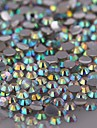 1440PCS Colorful Flatback Crystal Clear AB Iron On Rhinestone Gems 3mm Handmade DIY Craft Material