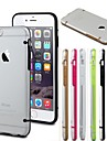 Glow in The Dark TPU Bumper with Clear Back Case for iPhone 6(Assorted Color)