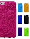 3D Rose Pattern Silicon Rubber Soft Case for iPhone 6/6S (Assorted Colors)
