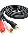 2 * RCA의 M / M 오디오 케이블 3m 9.84ft 오디오 3.5MM