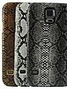 caso difícil de pele de cobra padrão de design para i9600 Samsung Galaxy S5