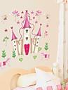 벽 스티커 벽 데칼, 만화 디즈니 공주 성 PVC 벽 스티커