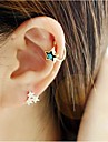 Earring Ear Cuffs Jewelry Party / Daily / Casual Alloy / Rhinestone Gold / Silver / White / Blue