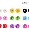 lureme®colorful rosa forma brincos set (9 pares por set)